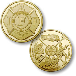 IAFF Merlin Gold Coin
