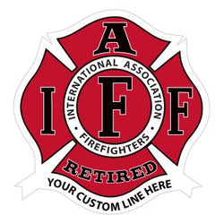 IAFF CustomRetired Decal