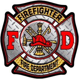 Firefighter Diamond Plate Decal