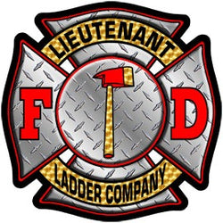 Lieutenant Ladder Co. Diamond Plate Decal