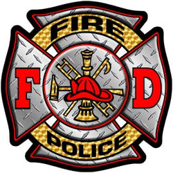 Fire/Police Diamond Plate Decal