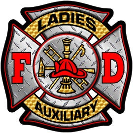 Ladies Auxiliary Diamond Plate Decal