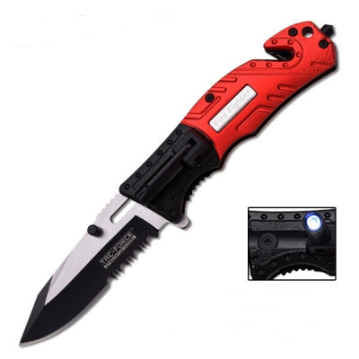 SPRING ASSISTED KNIFE With LED LIGHT