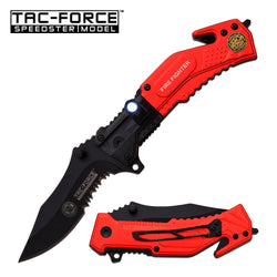 Firefighter Maltese Red Spring Assisted Knife