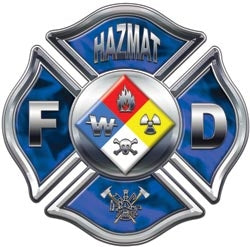 Blue Inferno Hazmat Decal