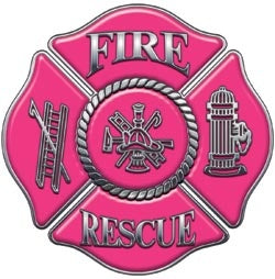 Pink Fire Rescue Decal