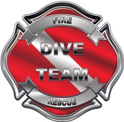 Dive Team Maltese Cross Decal