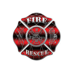 Fire Rescue Barb Wire Decal