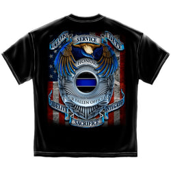 Police Valor Service Duty T shirt