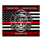 Thin Red Line Blanket-Throw