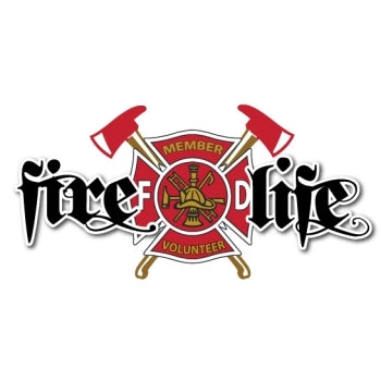 Fire Life Volunteer Firefighter Decal