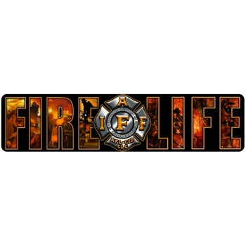 IAFF Fire Life Montage Decal
