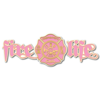 Fire Life Girl Decal