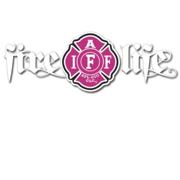 Pink IAFF Fire Life Decal