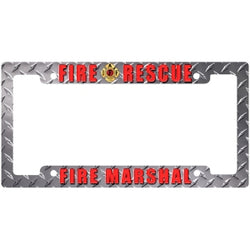 IAFF Diamond Plate Fire Marshal Frame