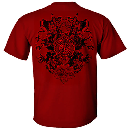 Fire Within - Red Shield Firefighter Tshirt