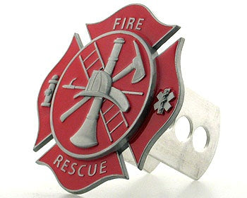Red Fire Rescue Hitch Cover