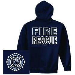 Fire Rescue Hoodie Firefighter Gifts