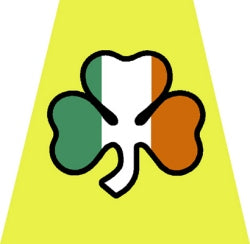 Irish Shamrock Helmet Tetrahedron Decal