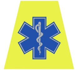 Star of Life Helmet Tetrahedron Decal