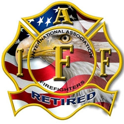 Retired IAFF Eagle Decal