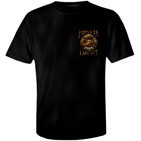 IAFF First In Last Out T-shirt- Sm & Med