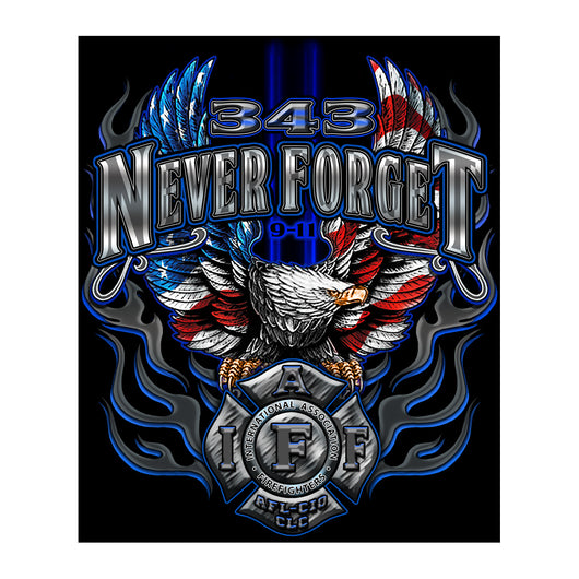 IAFF Never Forget Eagle Tshirt