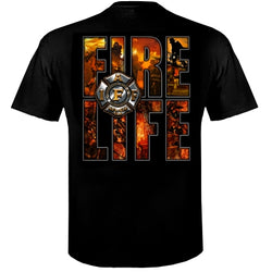 IAFF Fire Life T-Shirt Firefighter Gifts
