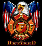 IAFF Retired Flag Eagle Shirt Firefighter Gifts