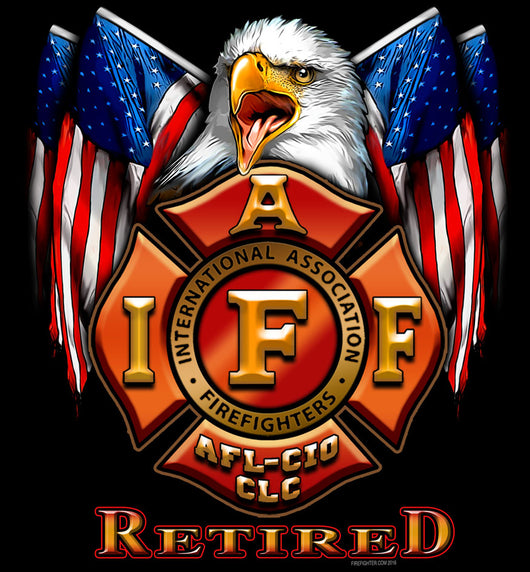 IAFF Retired Flag Eagle Shirt