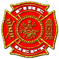 Fire Dept Maltese Decal