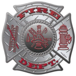 Diamond Fire Dept Decal