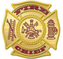 Gold Fire Chief Decal