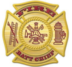 Gold Batt Chief Decal