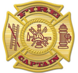 Gold Fire Captain Decal