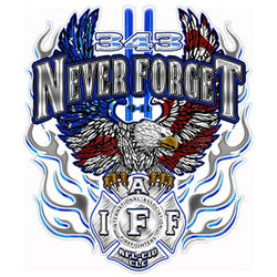 IAFF 343 Never Forget Decal