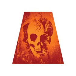 Red Skull Helmet Tet Decal