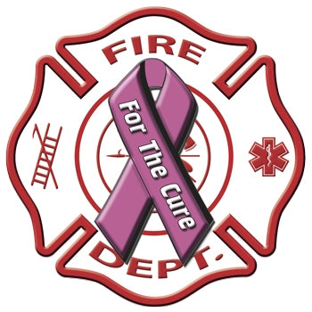 Fire Dept For The Cure Decal