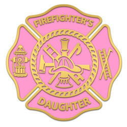Pink Firefighters Daughter Decal