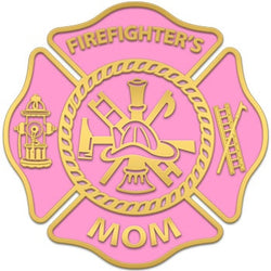 Pink Firefighters Mom Decal