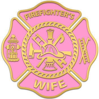 Pink Firefighters Wife Decal