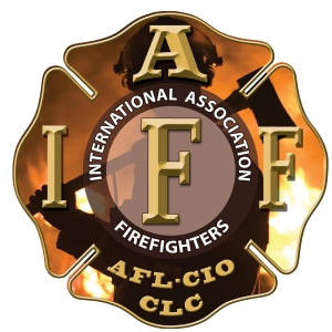 IAFF Gold Silhouette Decal