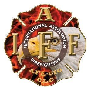 IAFF Gold Eagle Flame Decal