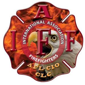 IAFF Red Eagle Flame Decal