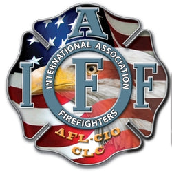 IAFF Flag/Eagle Decal