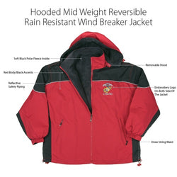 USMC Reversible Fleece Windbreaker
