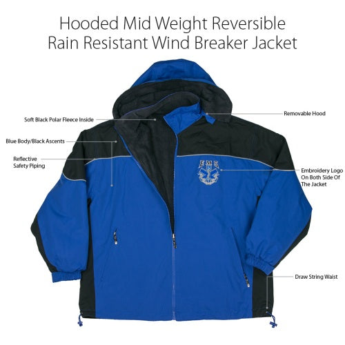 EMS  Hooded Fleece  Wind Breaker Jacket