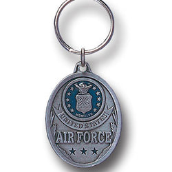 Air Force Enameled Key Ring