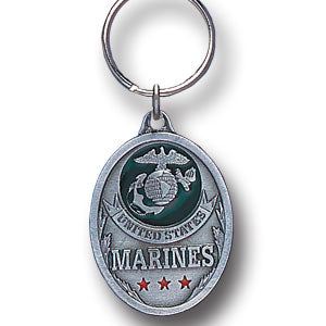 Marine Enameled Key Ring