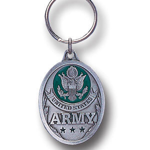 Army Enameled Key Ring